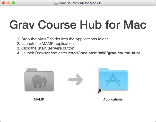 Grav Course Hub for Mac